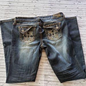 Request Jeans 13 32 Long Embellished Skinny